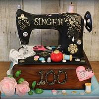 Sally's Sewing Machine Cake