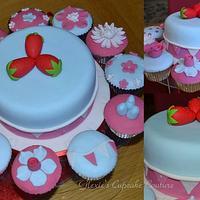 Cath Kidston inspired cake/cupcakes