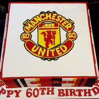 Manchester United 60th Birthday Cake
