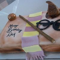 Harry Potter Book Cake  by cakes by khandra
