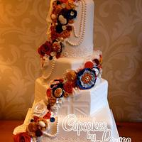 Diamond Jubilee theme wedding cake