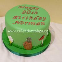 Golf themed cake by Jackie