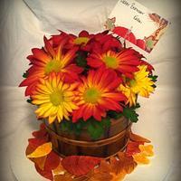 Bushel Basket of Fall Flowers