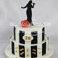Joint 70th Birthday Cake