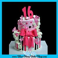 Sweet 16 Pink and Brown Topsy Turvy