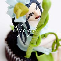 Blue Flower Elf Cupcake
