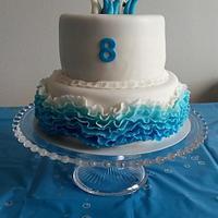 Dolphin ruffles cake