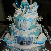 Frozen themed cake by Enchanted Cakes