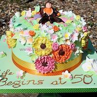 Spring Meadow Celebration Cake