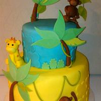 Safari Themed Baby Shower Cake