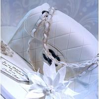 Winter wonderland themed Chanel bag