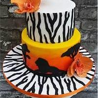 African sunset cake