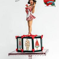 Hot Ice Cream Girl (Pin Up Cake Collaboration)