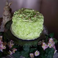 Swirl birthday cake