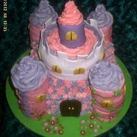 My l'il Harmonie's princess castle cake
