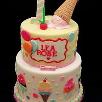 Ice cream and balloon cake by Annie
