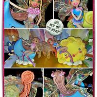Winx Bloom&Flora on Sun&Moon, Cake Topper for Twin by Barbara Buceti, BB Mode To Play