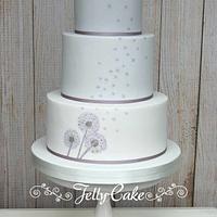 Dandelion Wedding Cake