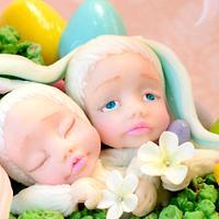 Easter Bunnies Cake