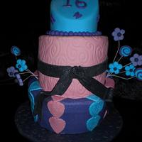 Topsy hearts and swirls  by Sugarart Cakes