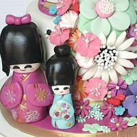 Sweet 16 Japanese doll and fantasy floral theme by milissweets