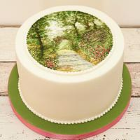 Swoony Summer Path Cake