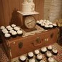 Rustic Button Wedding Cake