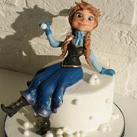 Anna-Frozen cake topper