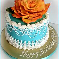 Teal and Orange Birthday