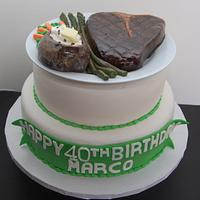 Steak Cake by It's a Cake Thing