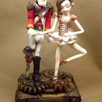 Steampunk Collaboration - The steadfast tin soldier and ballerina