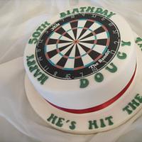 Dartboard 50th Birthday Cake