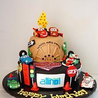 Cars 2 birthday cake
