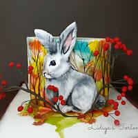 Hand painted cake (Bunny)