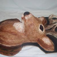 Deer Head Birthday Cake