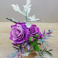 Purple and Gray flowers