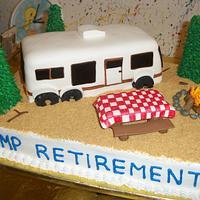 RV Retirement Cake