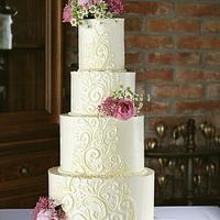 Swiss meringue wedding cake