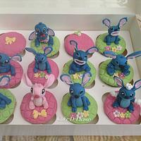 Disney Stitch Birthday Cupcakes