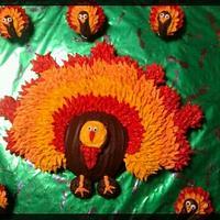 Turkey cupcake pullaway