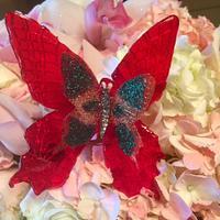 Isomalt butterflies