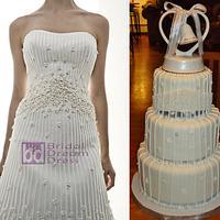 Matthew Christopher's IMAGINE Wedding Dress Cake