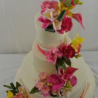 Tropical Blooms --A Garden Romance