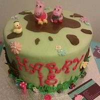 Peppa pig cake by Jenna