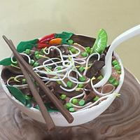 Carved Cake:  Pho Soup