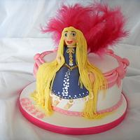 Rapunzel, Swags & Feathers Birthday Cake by Christine