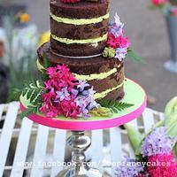 Bright choc naked cake