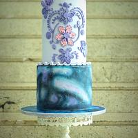 Cakerbuddies cake collaboration- theme-Ultraviolet,panatone colour of the year 2018