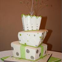 Topsy-turvy wedding cake