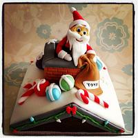 Father Christmas Roof Cake
